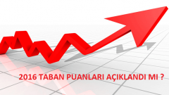 2015-2016 Taban puanları ve başarı sıralamaları açıklandı mı ?