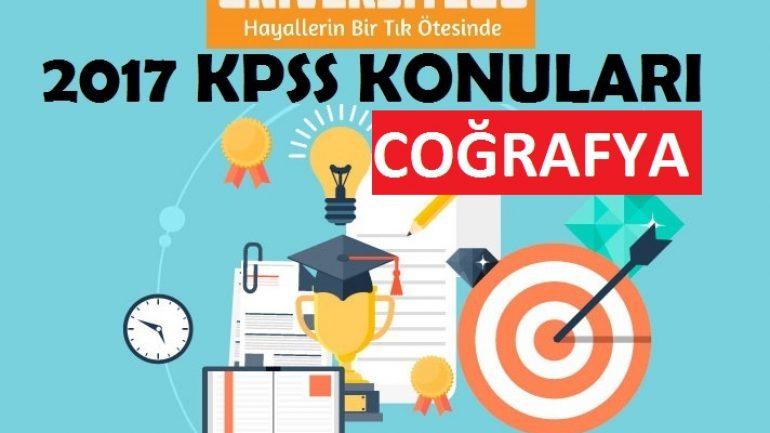 2017 KPSS Lisans Coğrafya Konuları