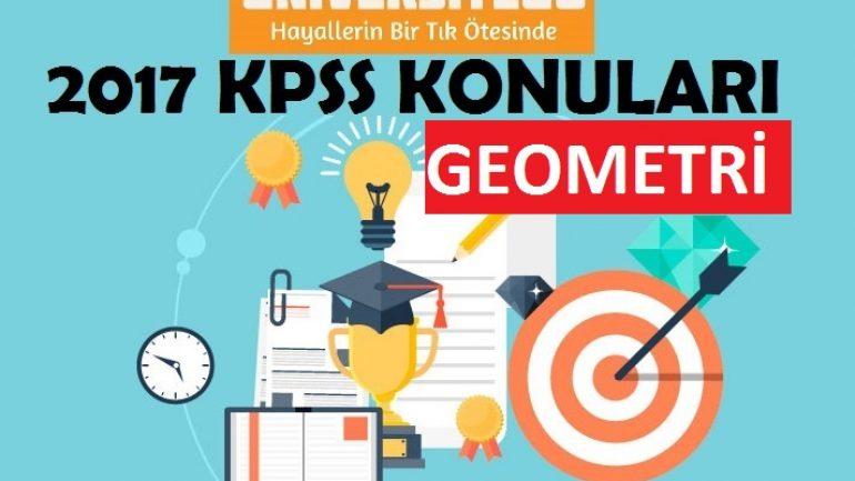 2017 KPSS Lisans Geometri Konuları