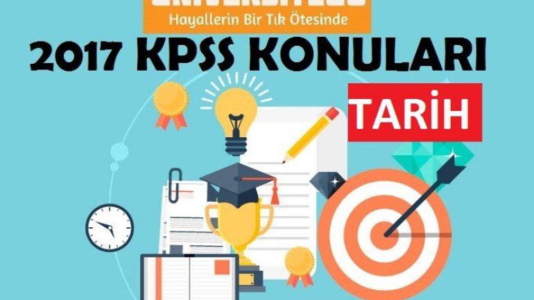 2017 KPSS Lisans Tarih Konuları