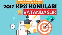 2017 KPSS Lisans Vatandaşlık Konuları