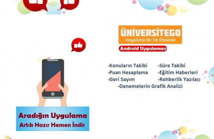 ÜniversiteGO Mobil Uygulaması Yayında !