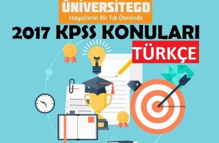 2017 KPSS Lisans Türkçe Konuları