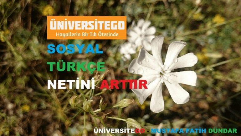 Türkçe ve Sosyal Netim Artmıyor