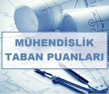2020 Tüm Mühendislik Bölümlerinin Taban Puanları ve Başarı Sıralamaları