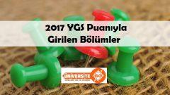 2017 YGS Puanıyla Girilen Bölümler
