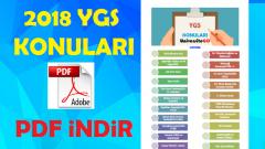 2018 YGS Konuları PDF indir