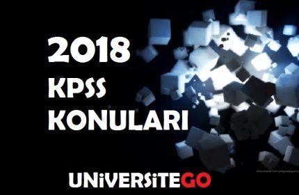 2018 KPSS Önlisans ve Orta Öğretim (Lise) Konuları