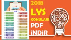 2018 LYS Konuları PDF indir