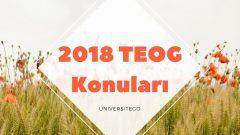 2018 TEOG Konuları