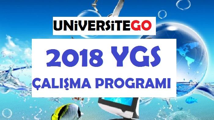 2018 YGS Çalışma Programı (Güncel)