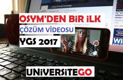 ÖSYM, 2017 YGS Çözüm Videolarını Yayınladı