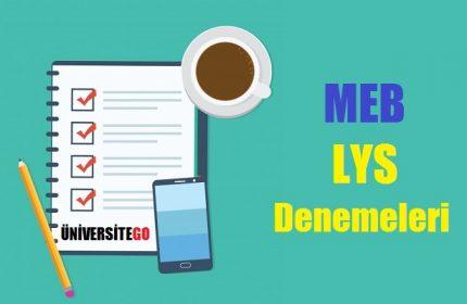 MEB : LYS Deneme Sınavı Yayınladı