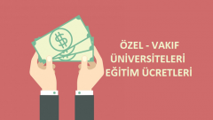2018 Özel Üniversite Ücretleri