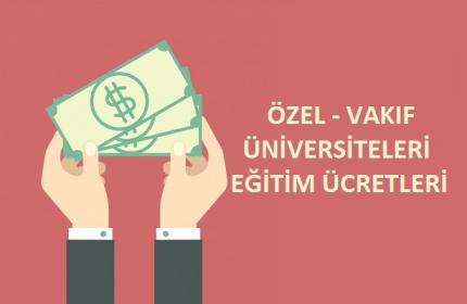 2021 Özel Üniversite Ücretleri