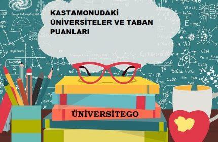 Kastamonu'daki Üniversiteler ve Taban Puanları