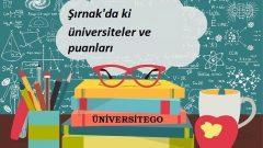 Şırnak'daki Üniversiteler ve Taban Puanları