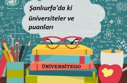 Şanlıurfa'daki Üniversiteler ve Taban Puanları