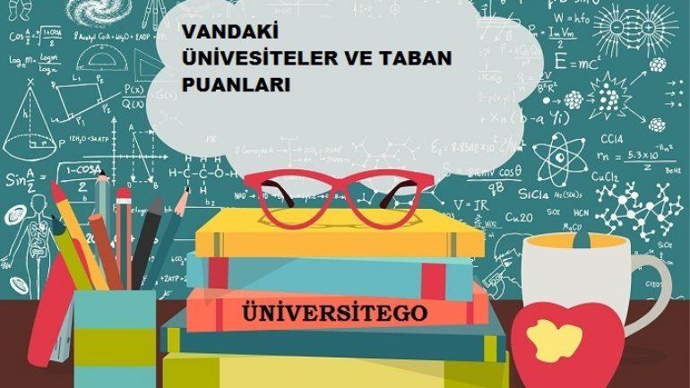 Van'daki Üniversiteler ve Taban Puanları