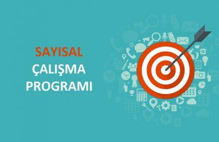 2018 YGS Sayısal MF Çalışma Programı