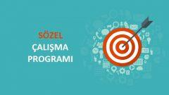 2018 YGS Sözel TS Çalışma Programı