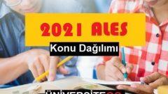 2021 ALES Konu Dağılımı (Güncel)