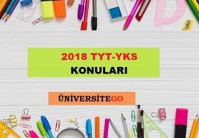 2018 YKS TYT Konuları ve Soru Dağılımı ( ÖSYM – YÖK )