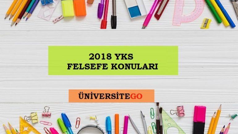 2018 YKS Felsefe Grubu Konuları ve Soru Dağılımı (ÖSYM-YÖK)