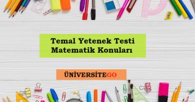 2019 temel yetenek testi matematik konuları