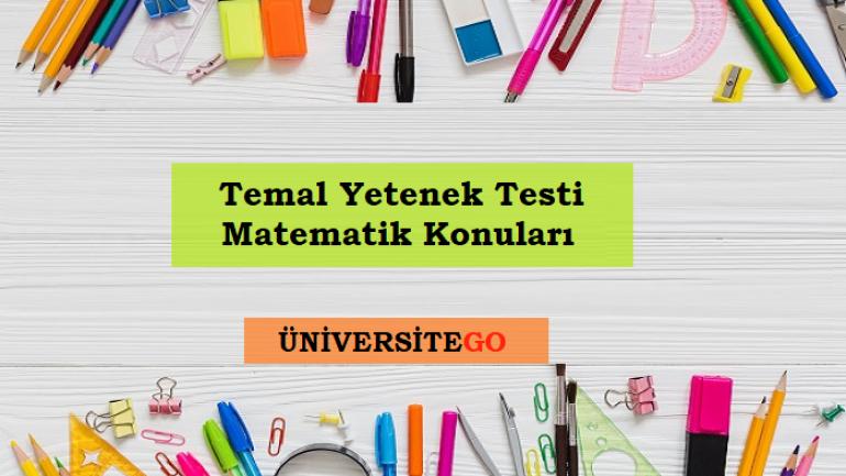 2018 Temel Yetenek Testi (TYT) Matematik Konuları (ÖSYM)