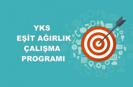 2021 YKS Eşit Ağırlık TM Çalışma Programı