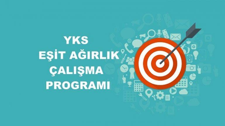 2019 YKS Eşit Ağırlık TM Çalışma Programı