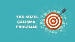 2020 YKS Sözel TS Çalışma Programı