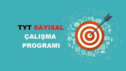 2020 TYT Sayısal MF Çalışma Programı