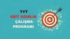 2018 TYT Eşit Ağırlık TM Çalışma Programı