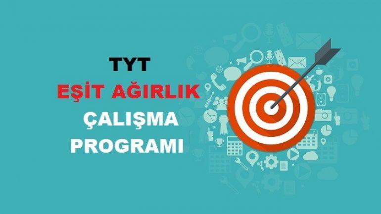 2019 TYT Eşit Ağırlık TM Çalışma Programı