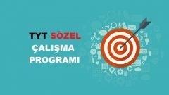 2021 TYT Sözel TS Çalışma Programı