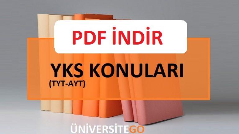 2018 YKS TYT Konuları PDF İndir