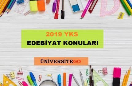 2019 YKS AYT Edebiyat Konuları ve Soru Dağılımı (ÖSYM-YÖK)
