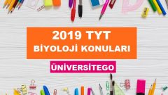 2019 TYT Biyoloji Konuları-Soru Dağılımı (ÖSYM-YÖK)