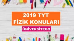 2019 TYT Fizik Konuları-Soru Dağılımı (ÖSYM-YÖK)
