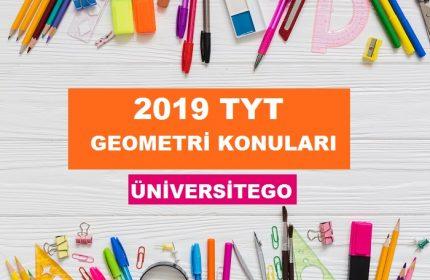 2019 TYT Geometri Konuları-Soru Dağılımı (ÖSYM-YÖK)