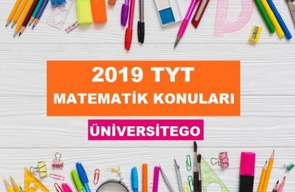 2019 TYT Matematik Konuları-Soru Dağılımı (ÖSYM-YÖK)