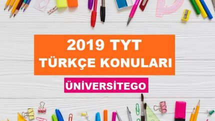 2019 TYT Türkçe Konuları-Soru Dağılımı (ÖSYM-YÖK)