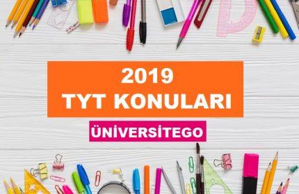 2019 TYT Konuları ve Soru Dağılımları