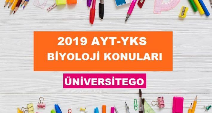 2019 YKS AYT Biyoloji Konuları ve Soru Dağılımı (ÖSYM-YÖK)