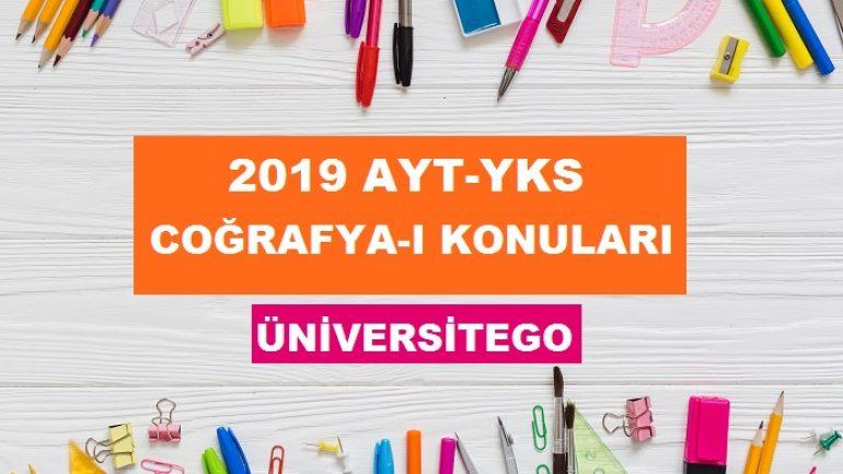2019 YKS AYT Coğrafya 1 Konuları ve Soru Dağılımı (ÖSYM-YÖK)