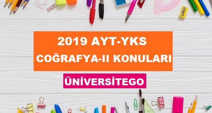 2019 YKS AYT Coğrafya-2 Konuları ve Soru Dağılımı (ÖSYM-YÖK)