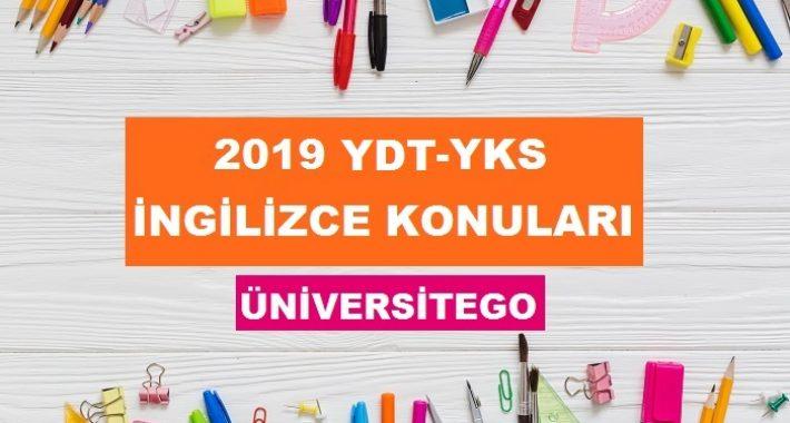 2019 YKS YDT İngilizce Konuları ve Soru Dağılımı (ÖSYM-YÖK)