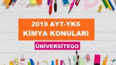 2019 YKS AYT Kimya Konuları ve Soru Dağılımı (ÖSYM-YÖK)